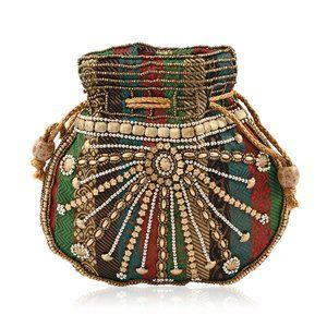 Handcrafted Brocade Fabric Embroidered Bag
